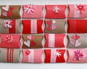customized party pack upcycled valentine decor red candy favor giftbox- set of 16