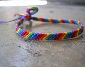 Rainbow Stripe Friendship Bracelet