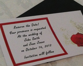 Red Rose Magnetic Save the Date - Custom