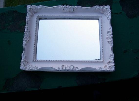 Shabby Chic tray/mirror- Free Shipping