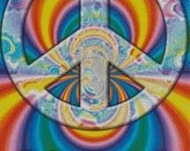 Peace Sign Cross Stitch Pattern 002