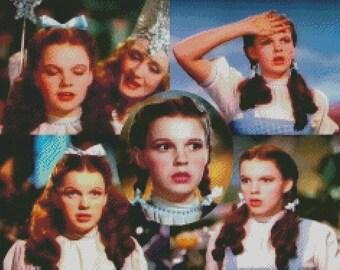 "Judy Garland ""Dorothy"" Cross Stitch Pattern 002"
