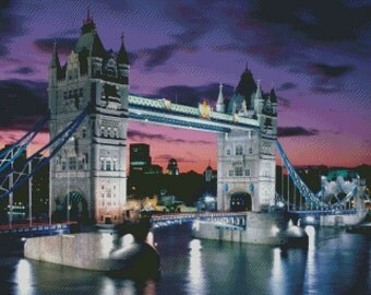London Bridge Cross Stitch Pattern 003