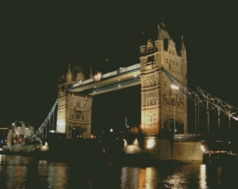 London Bridge Cross Stitch Pattern 005