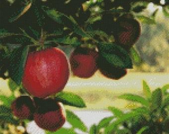Apple Tree Cross Stitch Pattern