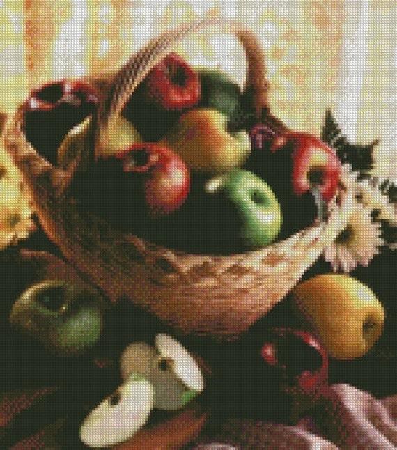 Apple Basket Cross Stitch