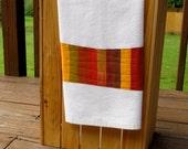 Modern Kitchen Towel, Spicy Orange Red Brown, Dish Towel