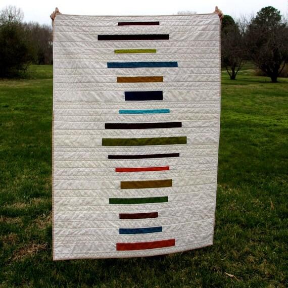 Modern Quilt,  Lap Quilt, Jewel Tones, Stripes, Quilt