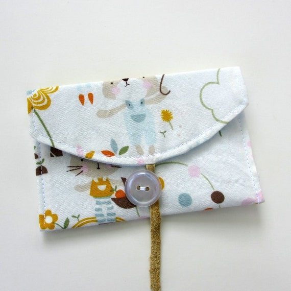Business Card Holder, Card Case, Fabric Wallet