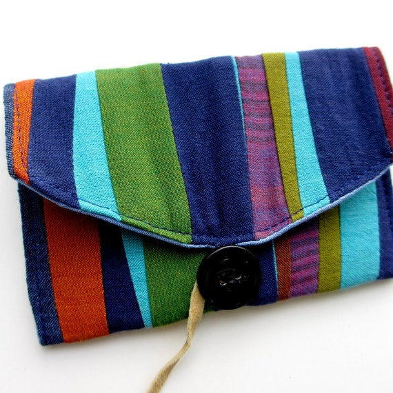 Business Card Holder, Business Card Case, Fabric Wallet