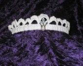 Hair Accessory Jewled White Crown - Birthdays - Weddings - Baptism - Flower Girl, Headband, headpiece