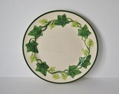 RESERVED for Kathy - - - Gravy Boat and Set 6 Vintage Franciscan American Ivy Dinner Plates 50s l Love Lucy
