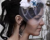 CLEARANCE Something Blue Bridal Fascinator