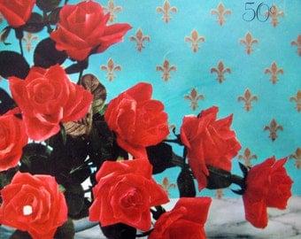 Vintage 1963 Crepe Flower Book By Dennison-Carnation,Violet,Gladiola,Orchid,Poppy,Tulip, Violet, etc.