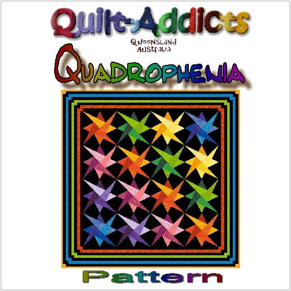 QUADROPHENIA - Quilt-Addicts Patchwork Quilt Pattern