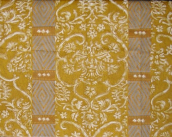 Designer Fabric Discontinued Sample - Arte Design Palmyra in Gold, White and Grey