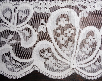 "Vintage  Lace - Bridal Lace, White Lace, Dajinet Lace, The Nalpac Company Montreal, Canada - 3"" Wide 6 Yards Long"