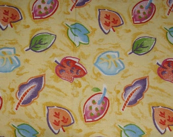 CIJ Sale Vintage Fabric Whimsical Multicolor Cotton Designer Fabric Made By Ametex Bolivia 1997