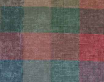 Vintage Fabric Material Upholstery Blocks of Color in Pastel Shades