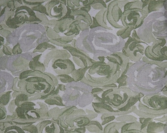 Vintage Fabric Material Upholstery 2 Pieces, 1 Green and Grey, 1 Burgundy and Beige