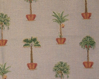 Designer Upholstery Sample Highland Court Woven Jacquard Tropical Trees