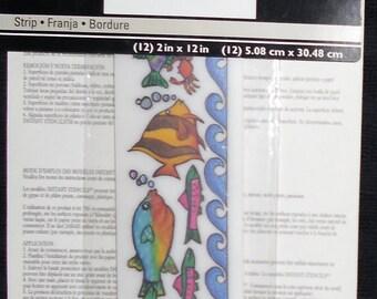 Stencils Instant Rub On - Fish by Imperial Home Decor Group - Bathroom, Beach Decor