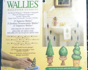 Wallies Wallpaper Cutouts / 25 Topiaries Wallies 12128 / Crafts, Scrapbooking