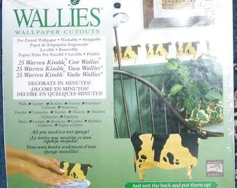 Wallies Wallpaper Cutouts / 25 Warren Kimble Cow Wallies 12912 / Crafts, Scrapbooking