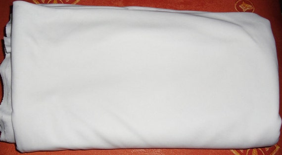Stretch Fabric White Fine Knit Twelve 12 Feet