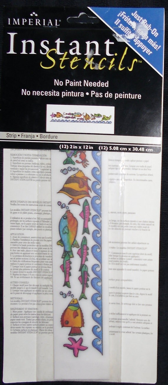 Stencils Instant Rub On Fish By Imperial Home Decor Group