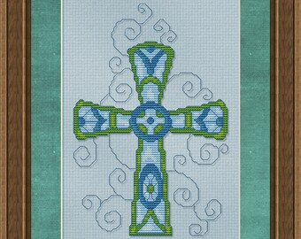 Cross Stitch Pattern Ornate Cross no. 1 Cross Stitch Pattern