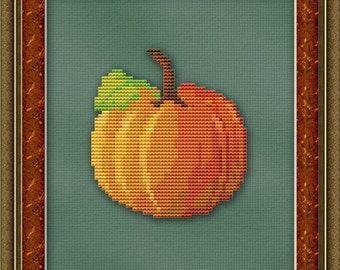 Cross Stitch Pattern Lonely Pumpkin Cross Stitch Pattern