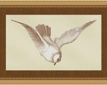 Cross Stitch Pattern Soaring Bird Design Instant Download PdF