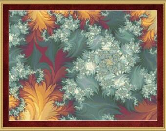 Counted Cross Stitch Pattern Winter Fire Cross Stitch Pattern / Design