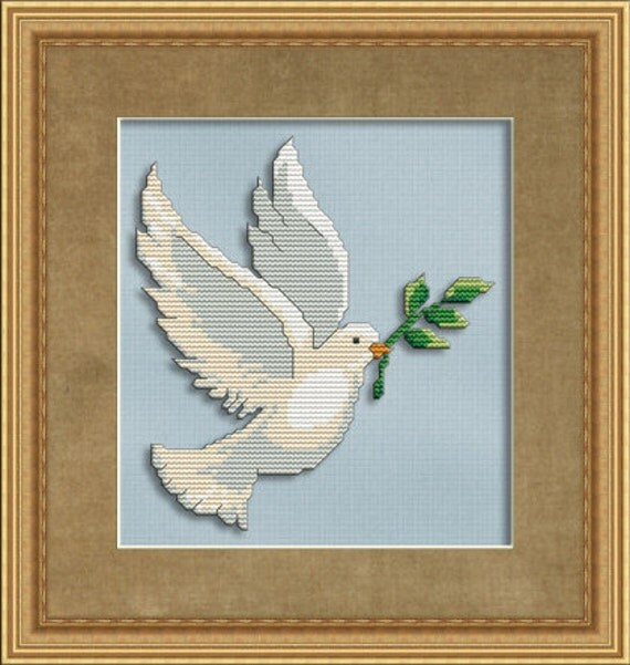 Cross Stitch Pattern Peaceful Dove Instant Download PdF