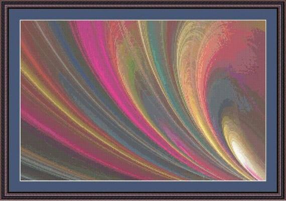 Fractal Cross Stitch Pattern Cosmos Patterns Instant Download pdf Cross Stitch Design