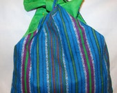 Blue and Green Stripe Purse