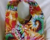 Tye Dye Bright Tie Purse Groovy- OOAK