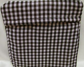 Potato Bag Black and White Check with Red- OOAK