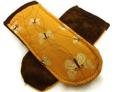 Pot Holder Handles- Butterflies and Brown