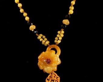 Topaz Flower Necklace