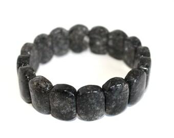 Black Rutilated Quartz Stretchable Braclet