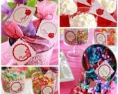 Garden Birthday Party Package - Ladybug & Butterfly - DIY PRINTABLE Personalized Birthday Party Package