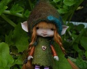 sweet redhaired posable ooak fairy fairie elf tiny 4 inches
