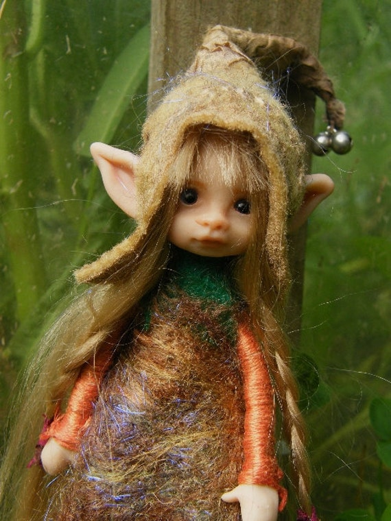 Reserved Listing for Akeva sweet posable pixie fairy fairie ooak