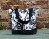 Large Tote Bag Graffiti Denim Style
