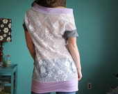 Lace Back long shirt. One of a kind.