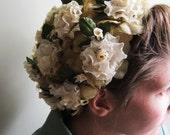 Estelle.  1960s Vintage Floral Hat.