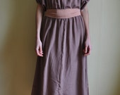 Jean.  Handmade 70s Bridesmaids Dress.