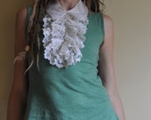 Ruth.  Vintage Lace Ruffle Collar, Jabot,  Dickey.